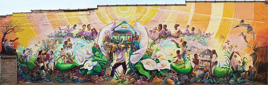 Sherman Park Rising Mural on 4715 W. Center St. Milwaukee, WI