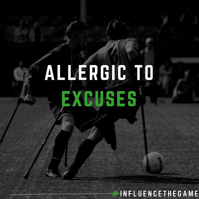 Snow on the ground? Rain? Too cold out? Too hot?  Get rid of your excuses. Go play. #InfluenceTheGame