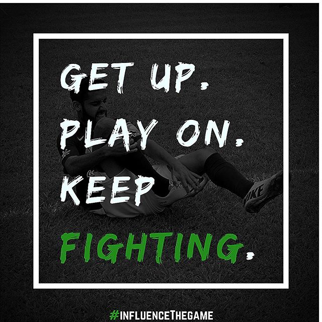 If you got the foul.. get up. If the referee didn't call it... get up. No more wasting pity seconds on the ground. Let's get on with it! #InfluenceTheGame