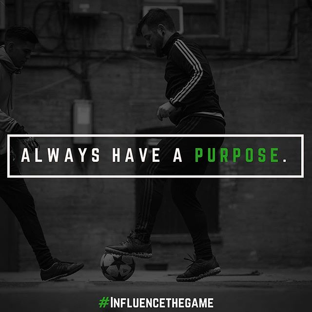 "Be intentional with everything you do. You can check out our new post on intentional ""Pressure on the Ball"" at www.generationfooty.com #InfluenceTheGame"