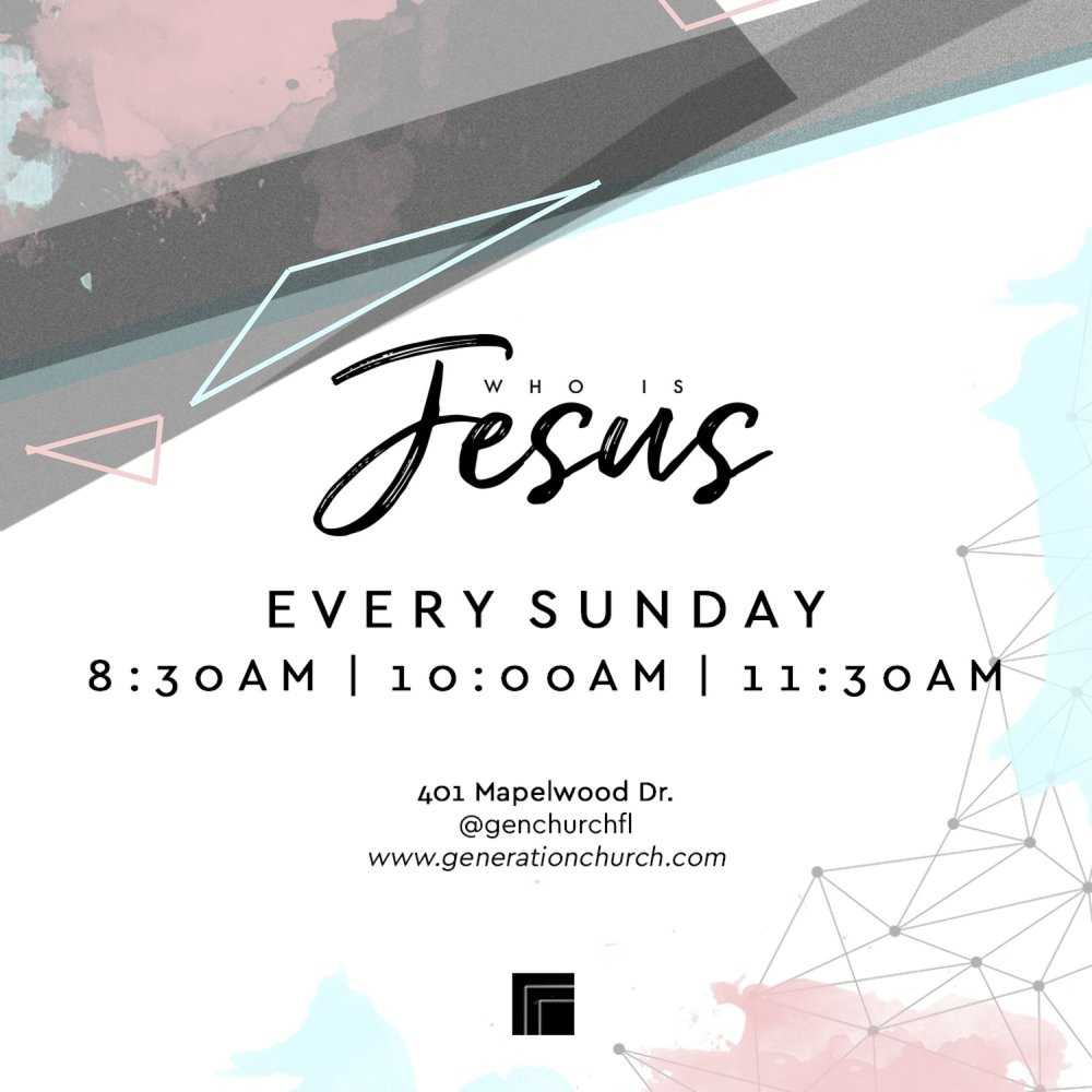 who is jesus series invite -