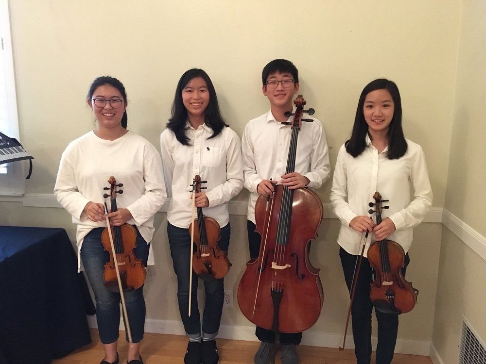 The Topaz Quartet - In January 2018, BMC welcomed the student-formed Topaz Quartet as its guest artists. Members of the Quartet (L-R) Chelsea Park (founder), Seyon Kim, Young Jin Lee, and Hyewon Ahn.For more information on the Quartet performance and on the background of each member, click here.
