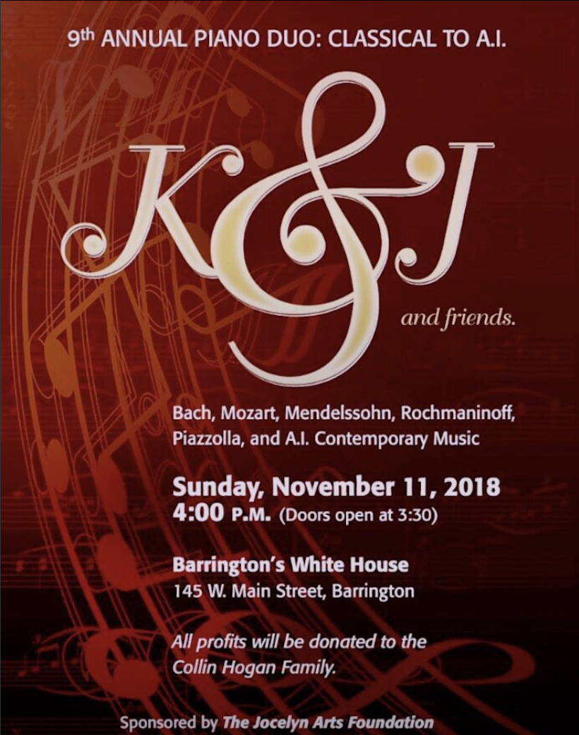 K&J and Friends, 9th Annual Piano Duo  Bach, Mozart, Mendelssohn, Rochmaninoff, Piazzola, and Artificial Intelligence (AI) Contemporary Music