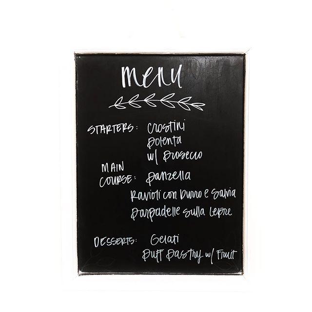 tuscan inspired menu 🌿 #ddxvcchallenge