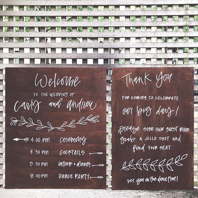 sad to see my first wedding wood signages go but i can't wait to see them in action! 🤘