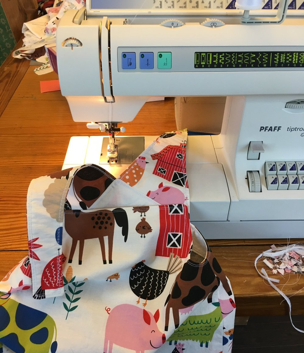 Sewing - I love to sew but don't get to it very often. This was a jumper I made for my niece for Christmas. I hope to have more sewing to post soon.