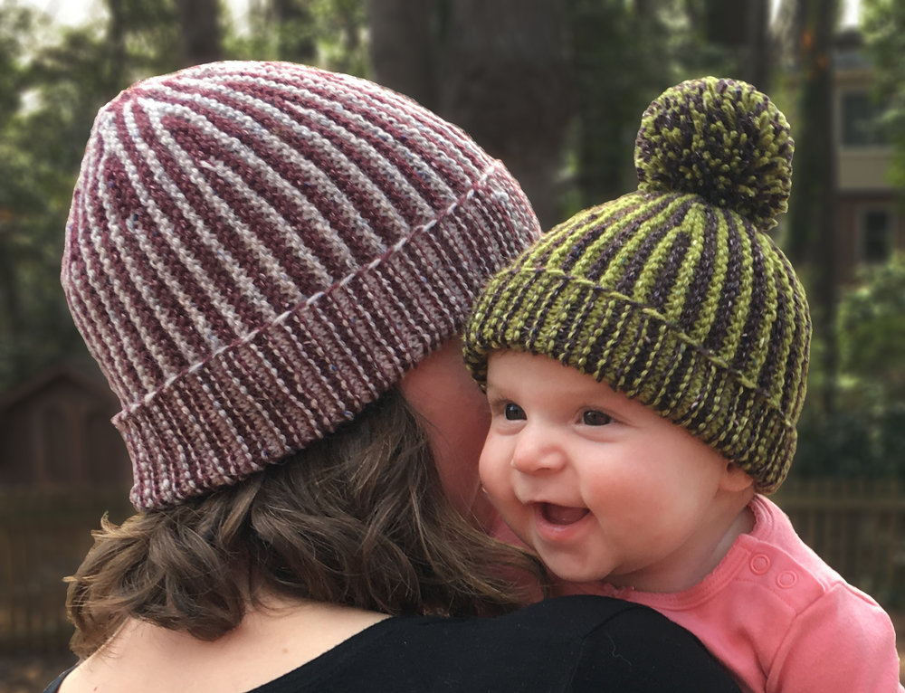 Garter Shaped Hat - Pattern released February 9, 2018.This pattern has 9 sizes ranging from Preemie to Adult X-Large. It also includes photo tutorials for provisional crochet cast on and grafting garter stitch.Available for purchase on Ravelry.