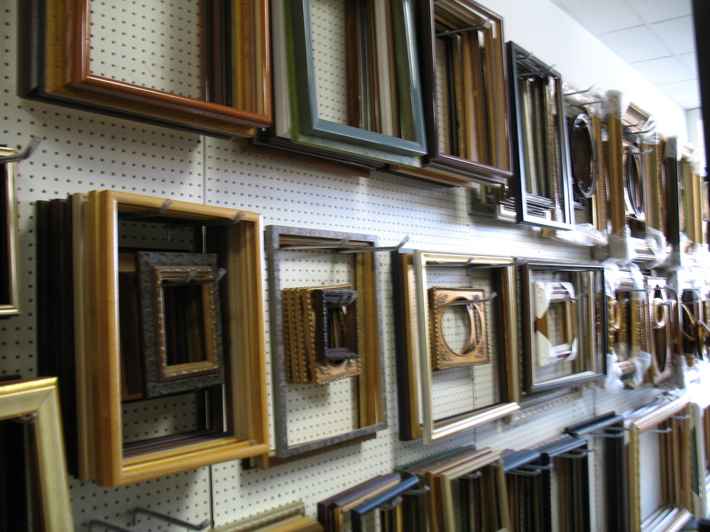Frames  - choose from over dozens of Traditional, Contemporary, Rustic, and Ornate designs.Wood moldingsMetal moldingsShadowboxes