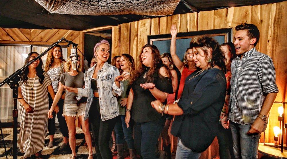 singing w Meg.JPG