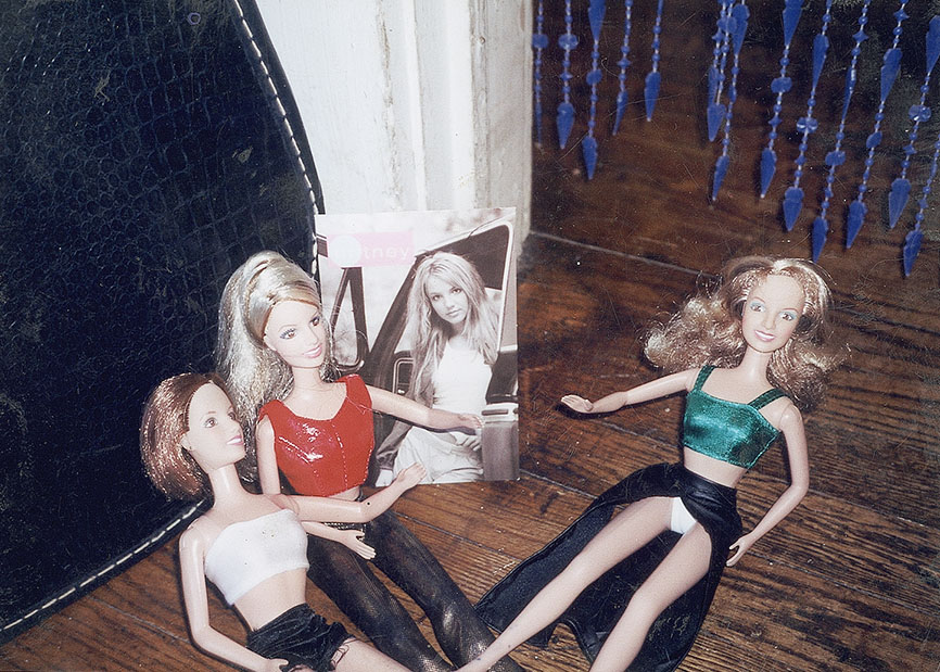 Four Britney Spears' Having a Meeting