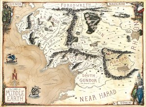 the lands of middle earth lotr