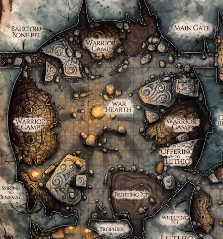 Orc Stronghold (DM & Player DD versions) — Jared Blando