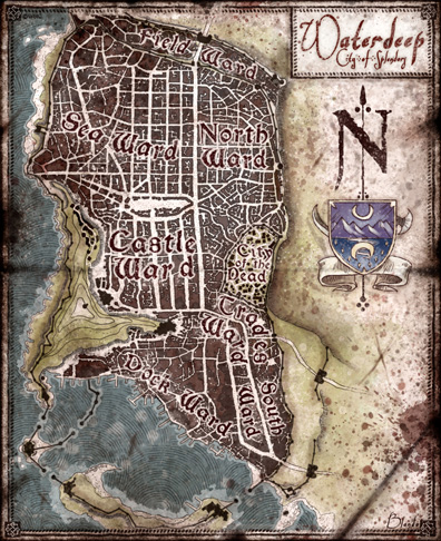 Waterdeep: City Map — Jared Blando