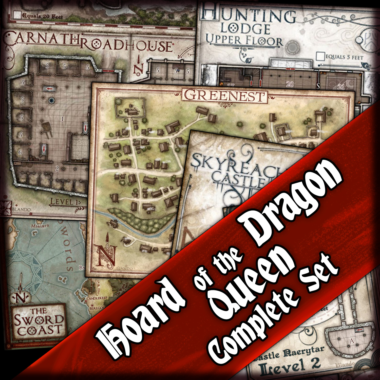 Hoard of the Dragon Queen: Complete Map Bundle — Jared Blando