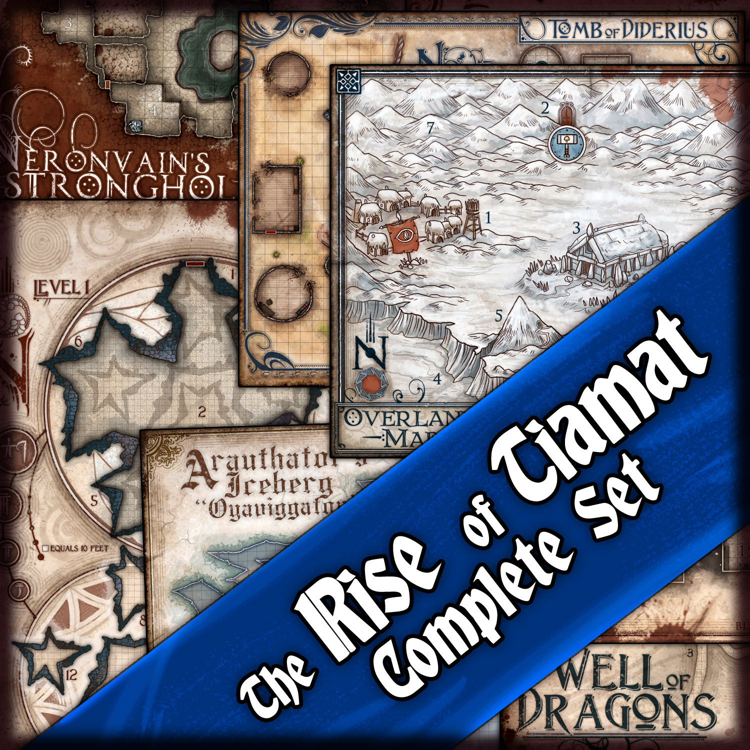 The Rise of Tiamat: Complete Map Bundle — Jared Blando