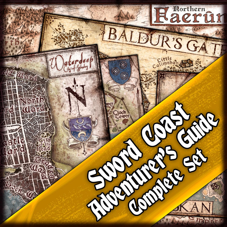 The Sword Coast Adventurer's Guide: Complete Map Bundle — Jared Blando
