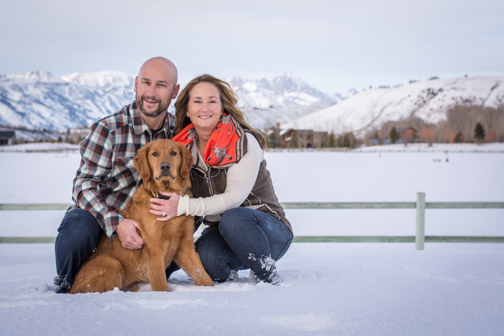 Michelle with her husband, Roy and their dog Corbet.