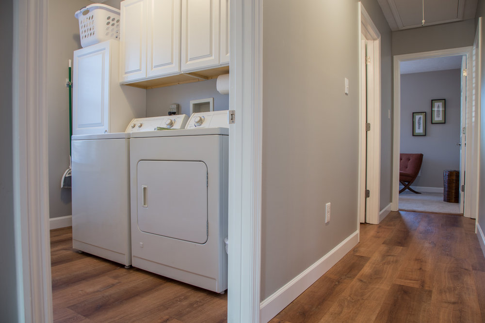 large, fully-equipped laundry room.