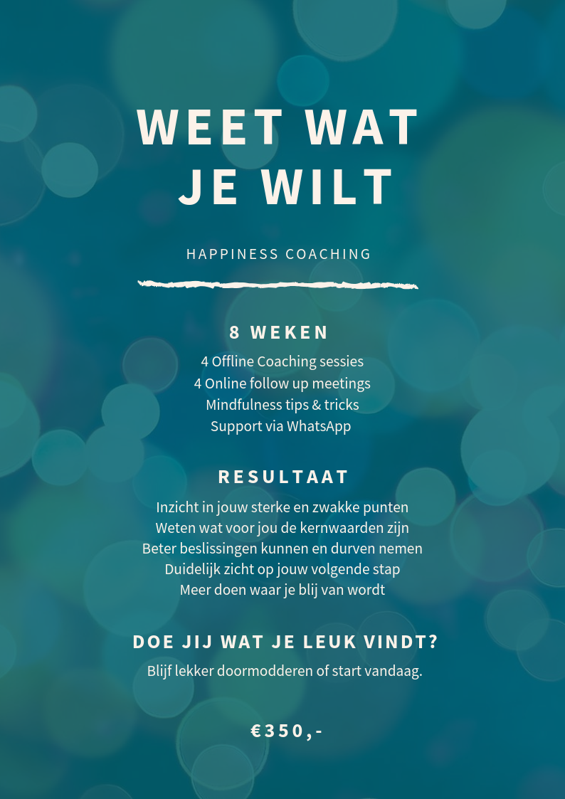 Weet wat je wilt - Your Next Chapter