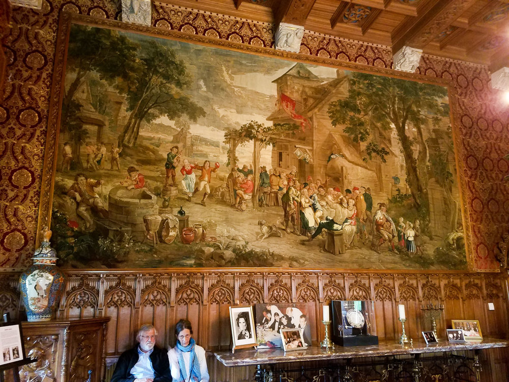 One of the wall tapestries