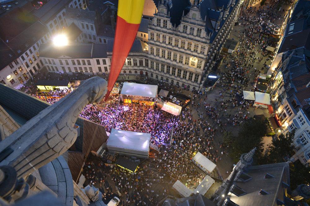 Aerial View of the Mardi Gras Stage - Source:https://gentsefeesten.stad.gent/en
