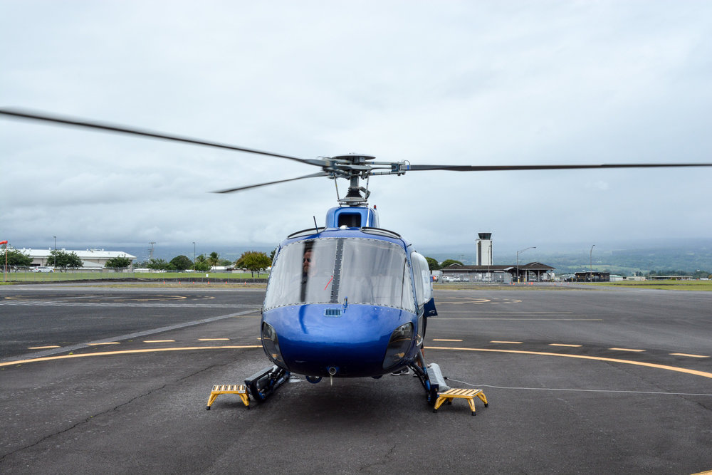 Our helicopter and guide for the tour