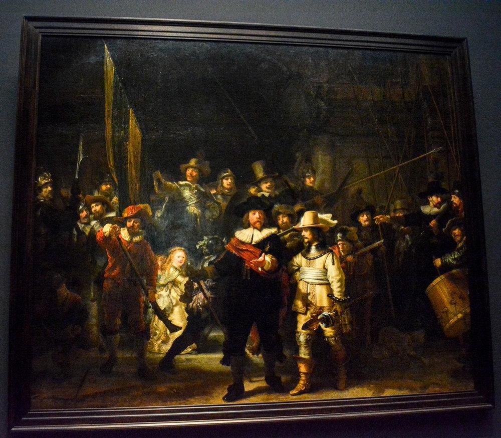 "Rembrandt's ""A Knights Watch"""
