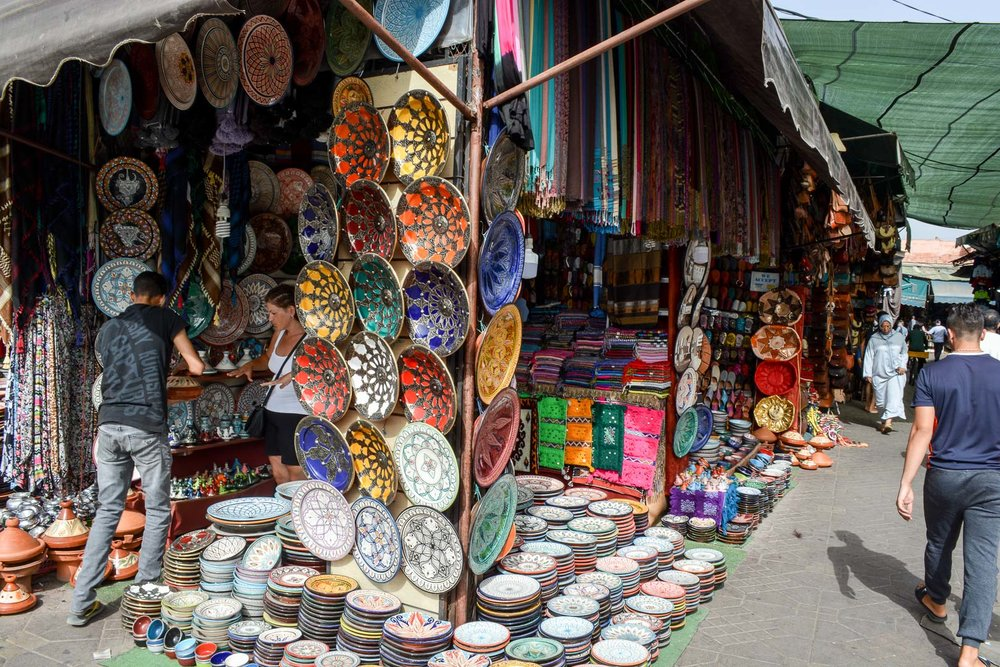 We loved the dishes and tagine's so much that we plan to come back to Morocco in the future just for a shopping spree!!