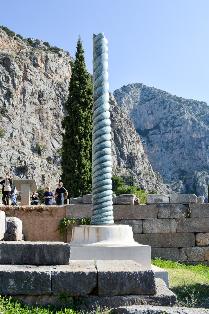 Recreation of the serpentine column which was stolen by Constantine and taken to Constantinople (now Istanbul)