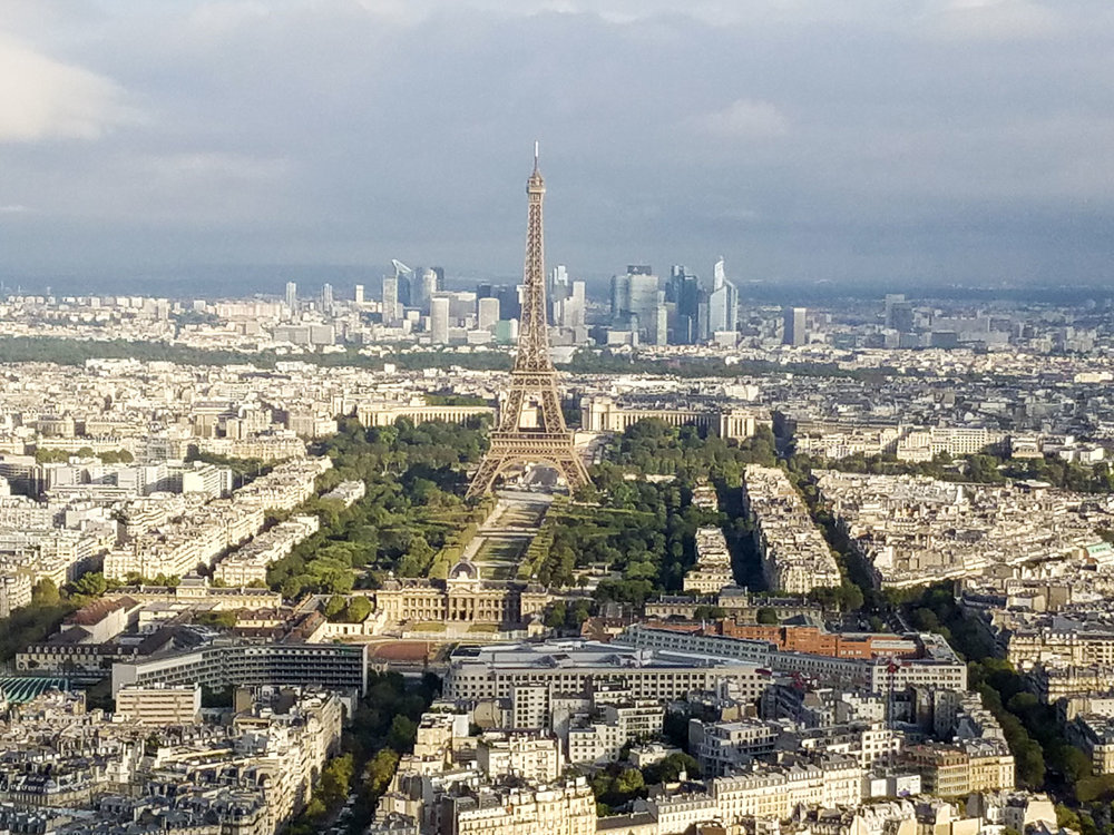 View of Paris from Ciel de Paris restaurant