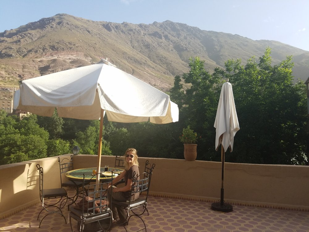 View from our riad in Imlil