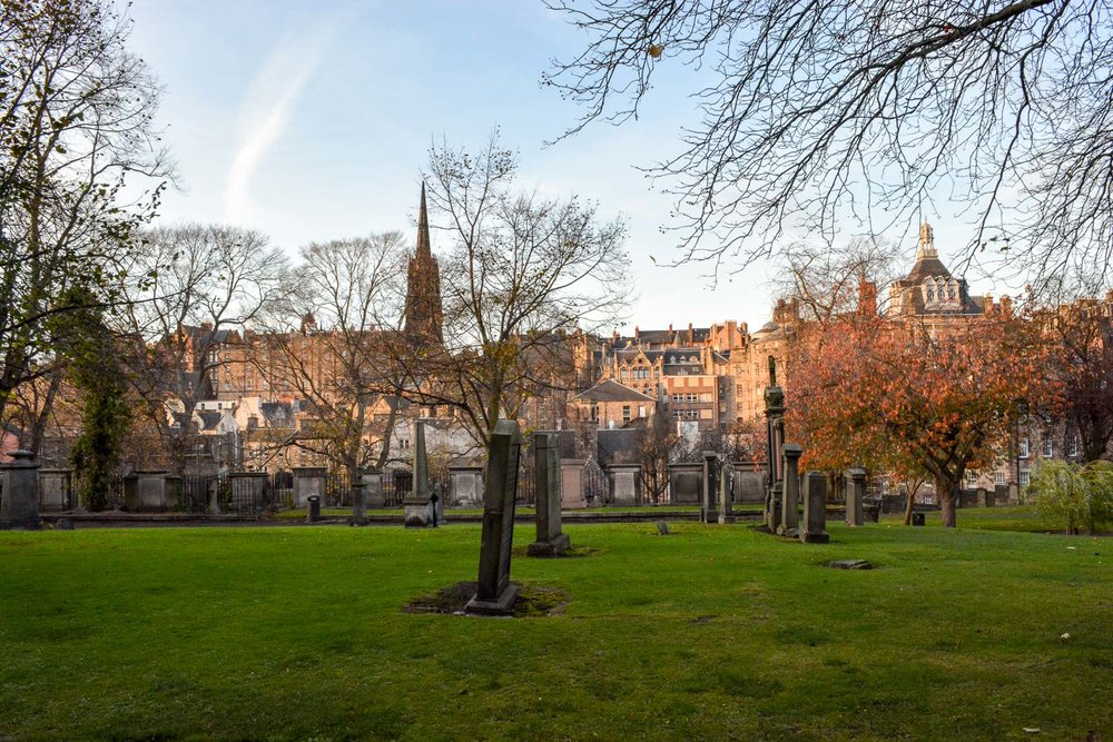 View from Greyfriars Kirkyard