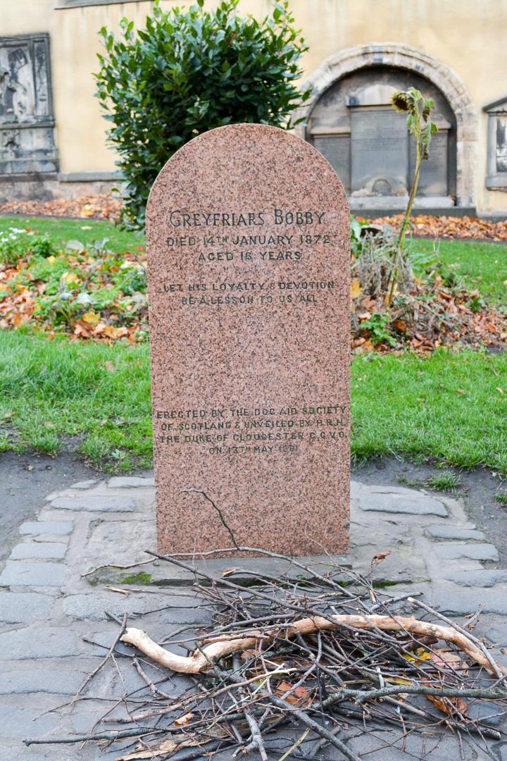 Greyfriars Bobby's grave