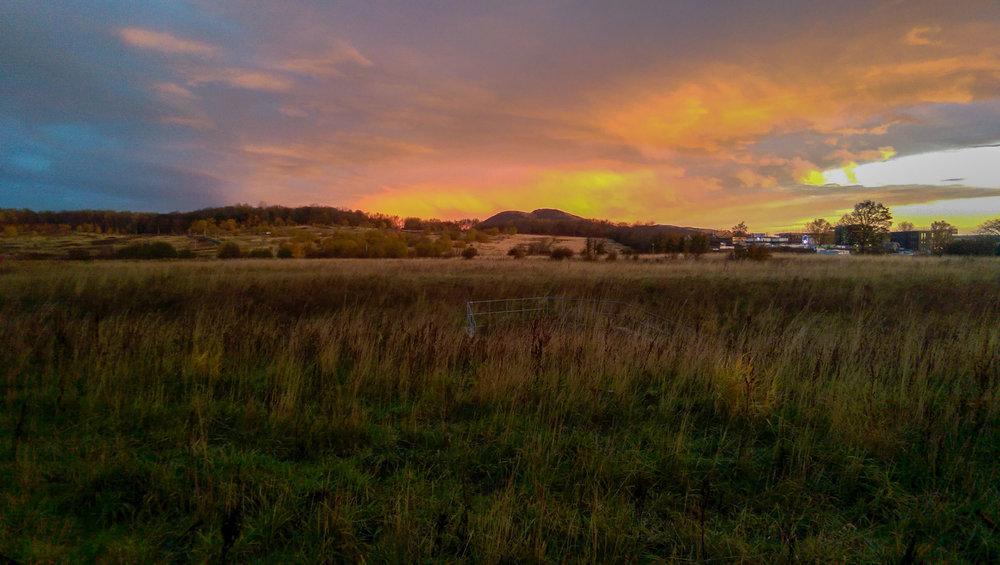 Sunrise near Craigmillar Castle