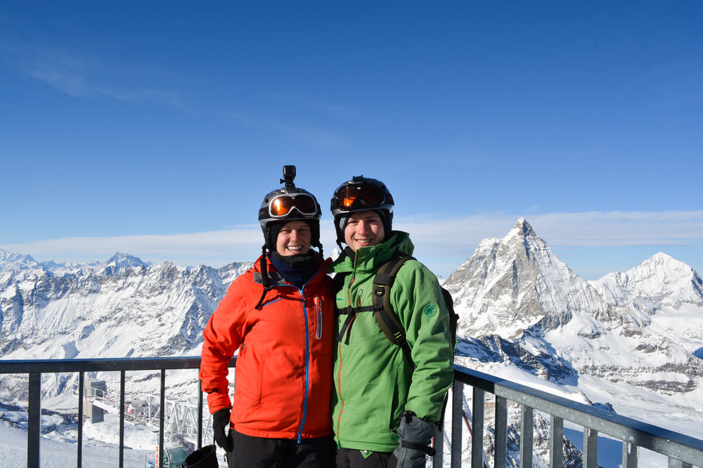 Matterhorn in the background from the Italian Side