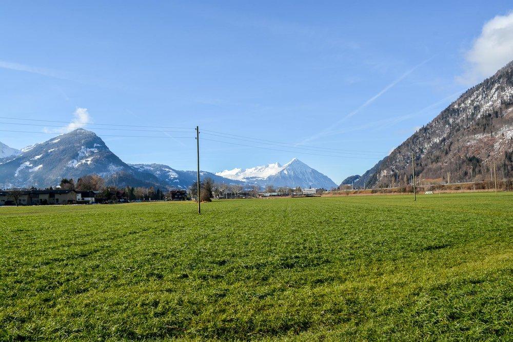 Looking back towards Interlaken from Lake Brienz