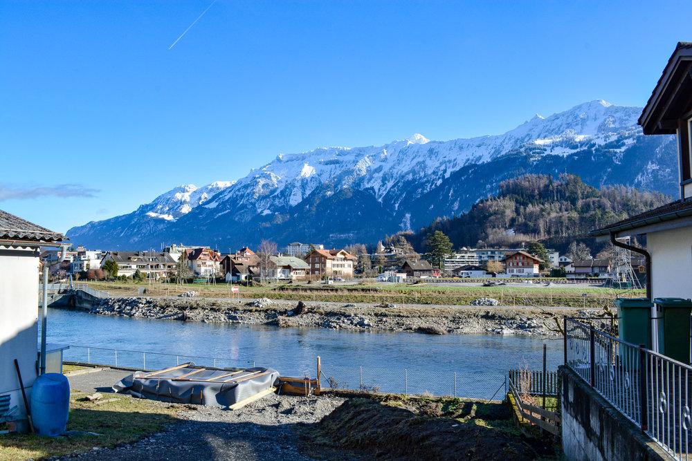 Houses by the river and mountains…be still my heart!