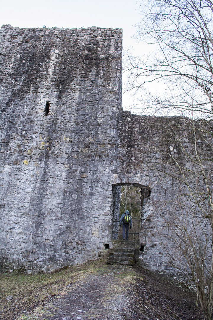My husband determined to find the top of the castle!!