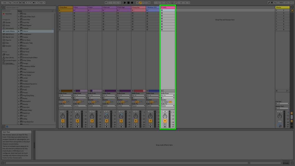 Command + T is the keyboard shortcut for this in Ableton on the Mac (Ctrl + T on PC) but likely is the same in your DAW.