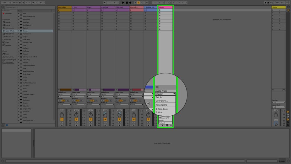 You can also set up a bus as an input source and send the rest of your audio to that bus. This is an easier process in Logic or Pro Tools.