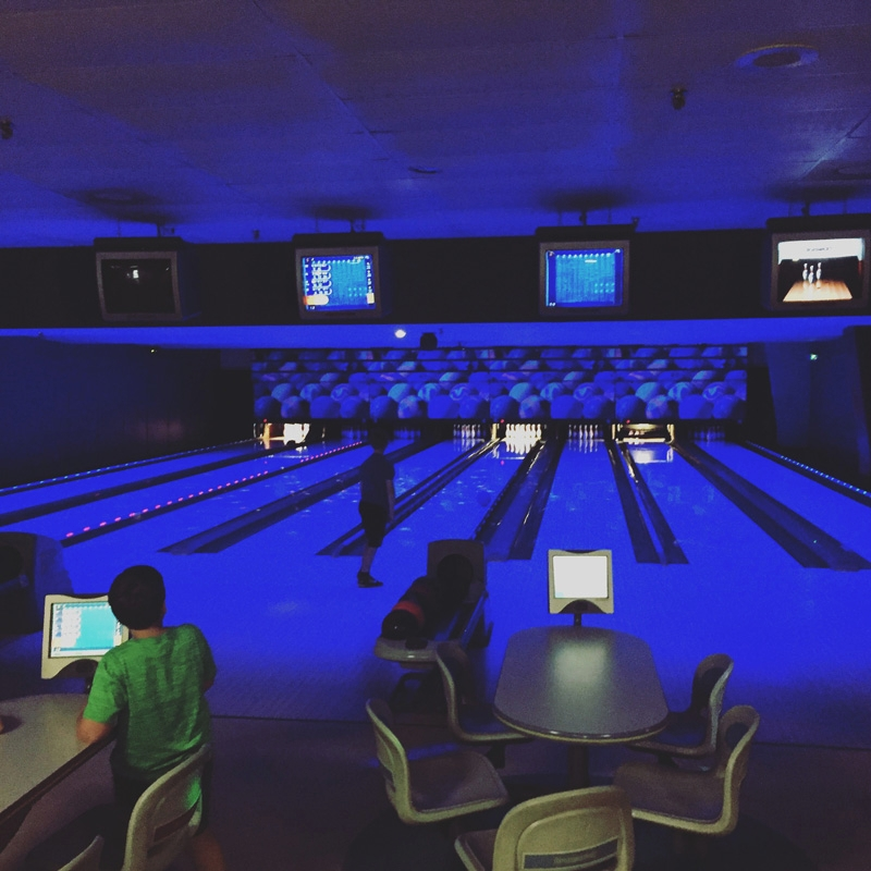 Lazy Loon Lanes Cosmic Bowling