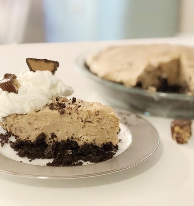 No Bake Peanut Butter Pie from This Full Life 5