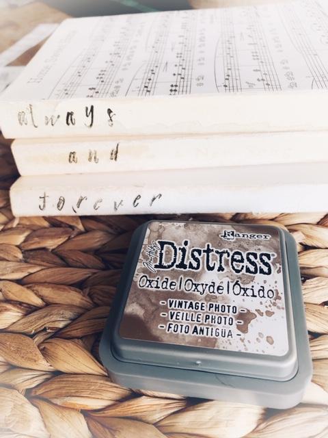 Distress sheet music to make it look vintage