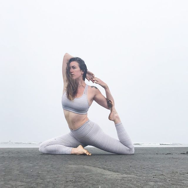 Feeling like a real life mermaid on this foggy morning at the beach 🧜‍♀️ I used to think I only liked living in the sunshine, but now that my home has barely seen a cloud in 3 months, I realize how much a appreciate the moody days. Luckily our family lives on the coast, so I can get my dose of cloudy ocean days, when I need it! 🌊 . . . . . . . . . . . . . . . . . . . . . . . . . . . . . #yoga #beachdays #foggybeach #moody #oregoncoast #reallifemermaid #mermaidbind #pigeonpose #bornofthesea #coastalliving #foreverstudent #oceanlove #oregonlife #pnwlife