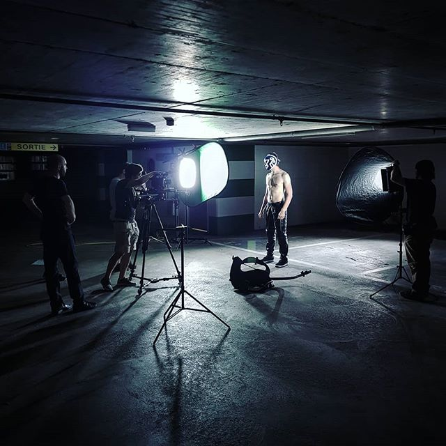 Scary people in a dark garage! . . . #Imajack #luchador #FilmMaking #Producer #Production #Videography #Frame #Set #Creative #Cinema #Movie #Craft
