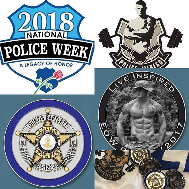Show your support at #Natiopnalpoliceweek2018 get your @police_fitness challenge coins. #policeweek #policeweek2018 #unitytour #unitytour2018 @rokel.21 @bluelife_inspired @gunsofliberty @blkwtrcreek @rob_m_kelly @policefitnessnutrition @policek9magazine @smokin_jo20 @officerashleysmith @jcuzza37