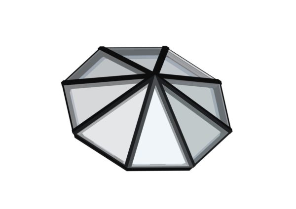 Octagonal Pyramid</br>Glass, Hurricane Rated or Polycarbonate Available