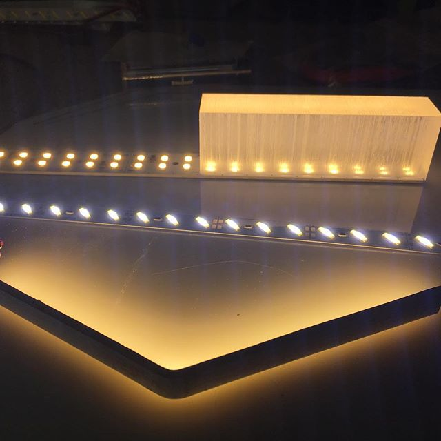 Doing some R&D with some #led light boards. #interiordesign #lightingdesign #design