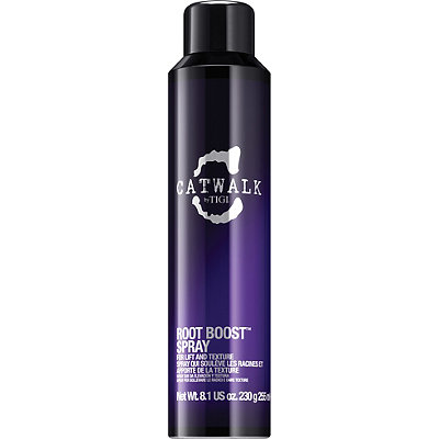Tigi Catwalk Root Boost Spray - Turn the volume up on your hair with this root boost spray! Even if you don't love big hair, we all need a little boost every now and then. Tigi's Root Boost Spray is my fave for two simple reasons: 1. It's so easy to spray directly on your roots. 2. It doesn't leave a sticky or gritty feeling in the hair. You can use just a little on wet roots before blowdrying to add slight volume in your hair or you can layer it on to really bump up your hair.