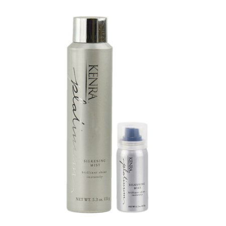 Kenra Platinum Silkening Mist - You can never have enough shine, right? This shine spray is the perfect finishing tough for any hairstyle. It makes even the driest hair look shiny and healthy but all without appearing oily or greasy. And bonus points, it smells delicious.